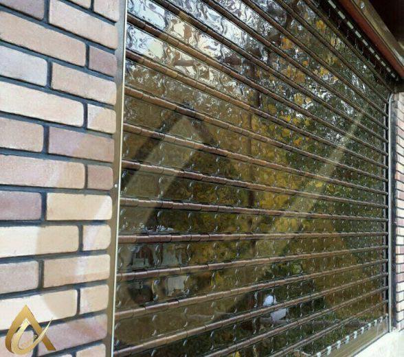 کرکره پلی کربنات شفاف مغازه السا